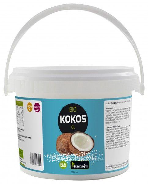 Bio Kokosöl, desodoriert 1,8 Liter im Eimer
