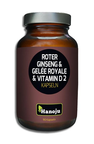 Gelee Royal+Roter Ginseng+ Vitamin D2 500 mg 90 Kapseln