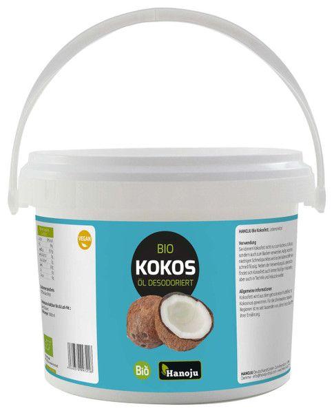 Bio Kokosöl, desodoriert 1000 ml im Glas