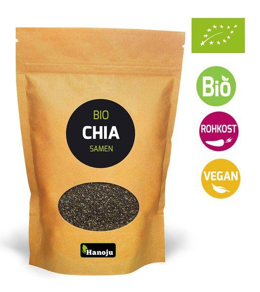 Biologische Chia zaden 500 g in hersluitbare zak
