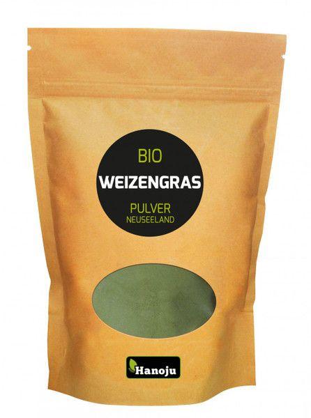Bio Weizengras Pulver aus Neuseeland 200 g im Glasflacon