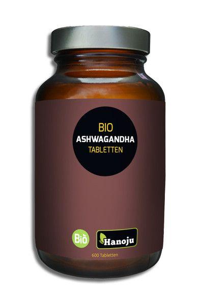 Bio Ashwagandha 500 mg 600 Tabletten