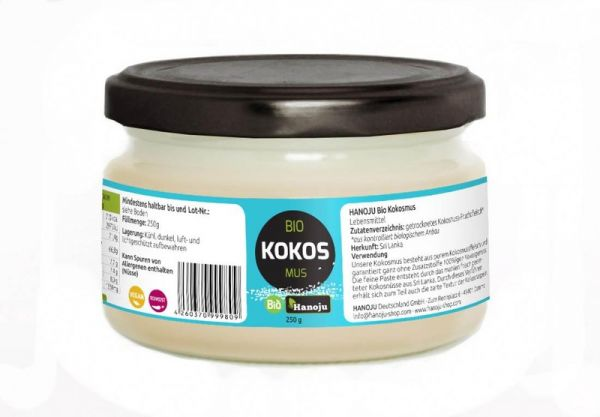 Bio Kokosmus (Creme) 250 g im Glas